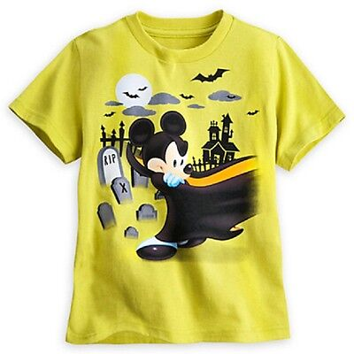 DISNEY STORE MICKEY MOUSE HALLOWEEN TEE KIDS GLOW IN THE DARK SIZES NWT - Glow Halloween Store