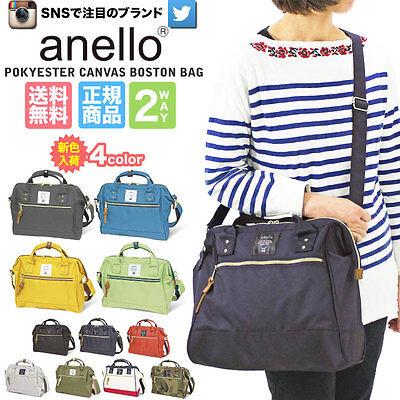 Anello Original 2 Way Shoulder Handle Polyester Canvas Waterproof Boston Bag