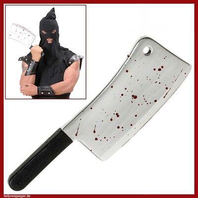 BLUTIGES BEIL # Halloween Horror Deko Henker Psychopat Killer Kostüm Party 8602