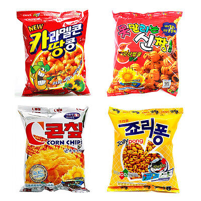 Korean Mini Snack Collection, Crown Snack 4Pack