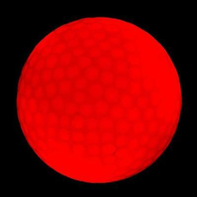 RED Flashing Light Up LED Electronic Golf Balls 2-pack ~ Night Golfing - Flashing Golf Balls