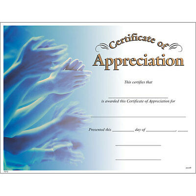 Award Certificate of Appreciation, Pack of 15](Certificate Of Award)