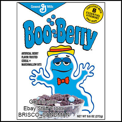 Fridge Fun Refrigerator Magnet BOO-BERRY MONSTER BREAKFAST CEREAL 80s Retro for sale  Shipping to Canada