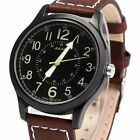 Genuine Leather Band Watches with Large Numerals