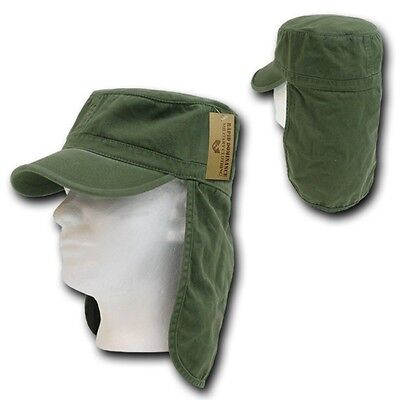 Olive Green Foreign Legion Fishing Boating Sun Protector Cap Caps Hat Hats L/XL Boating Sun Hat Olive