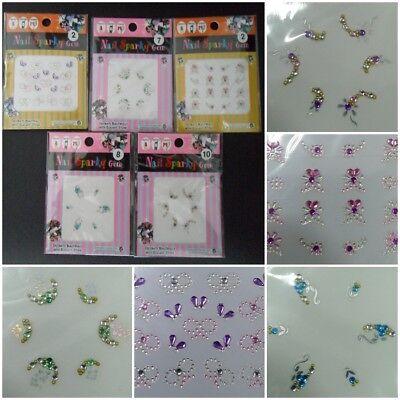 Nail Art Sticker 5 sheets NEW Shiny luxury Design Gems
