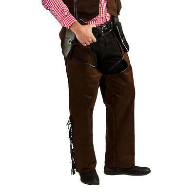 Hochwertige Western Herren Chaps im Lederlook  für Cowboykostüme und mehr