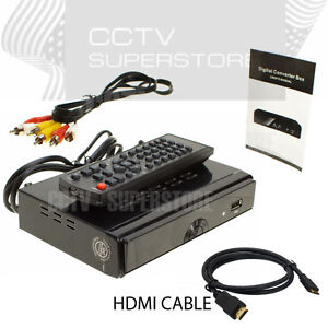 Hdtv converter box ebay hdtv dtv digital converter box usb media player recording pvr hdmi tv tuner publicscrutiny Images