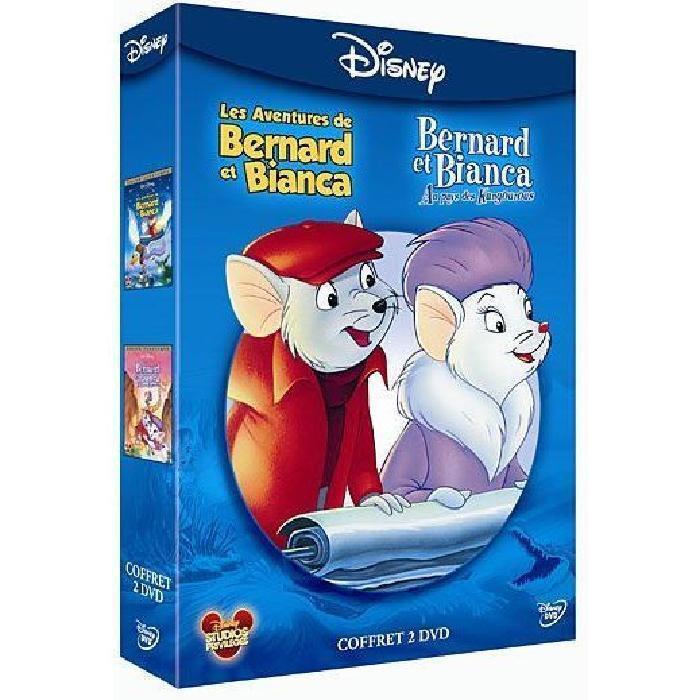 Coffret DVD Les aventures de Bernard et Bianca + Au pays des kangourous