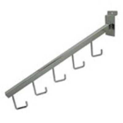 Only Hangers 5 Hook Slatwall Waterfall- Chrome