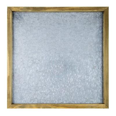 Rustic Country Galvanized Metal Framed Magnetic Memo Board Farmhouse (Metal Memo Board)