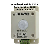 DC 12V-24V 8A Automatic Infrared PIR Motion Sensor Switc