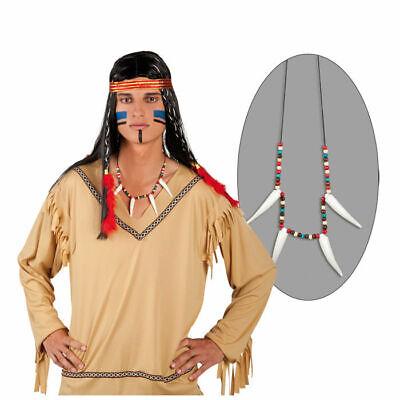 Indianerkette mit Bärenzähnen und Perlen, Kostümkette Indianer Schmuck - Kostüm Schmuck Und Accessoires
