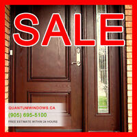 ENTRY DOORS CLEARANCE SALE, Free Estimate Within 24 Hours!