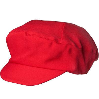 Schildmütze // Rot // Videospiel Hut // Kostümmütze Super Klempner