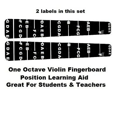 Sports & Entertainment Lower Price with High Quality 1pc For 4/4 Violin Fiddle Fingerboard Stickers Fret Markers Label Musical Instruments