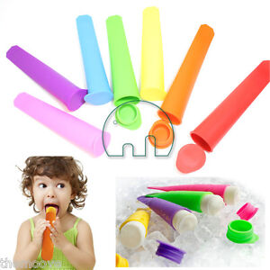 7 Pcs Silicone Push Up Ice Cream Jelly Lolly Pop Maker Popsicle Mould Mold AU