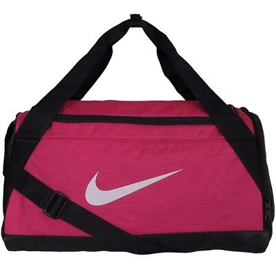 Nike Brasilia 6 Duffle Bag Small sport bag pink black training bag NEW Size  S 3f75a9ec98140