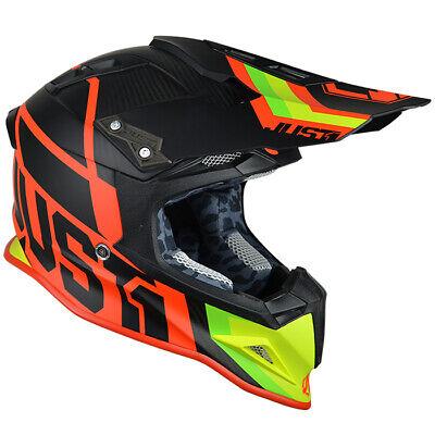 Just1 J12 Uni Rojo/ Verde Talla 56-S Motocross Enduro Moto Casco MX...