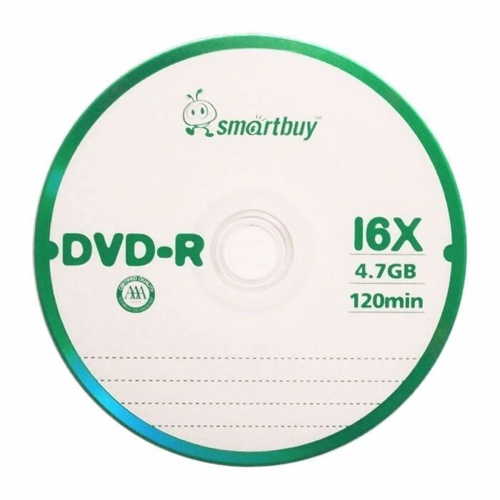 10 Pcs Smartbuy Dvd-r 16x 4.7gb Logo Top Blank Record Disc W/ 10 Paper Sleeves