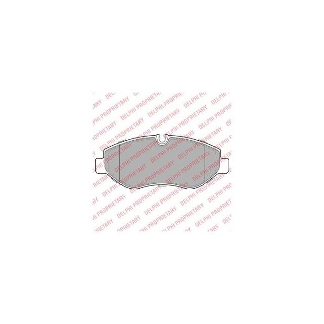 DELPHI  29192 Bremsbelagsatz, Scheibenbremse  Vorne Satz zb VW CRAFTER 30-50 Pri