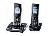 Panasonic KX-TG8562E Twin Cordless Digital Phones Answering Machine Black
