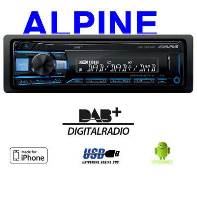 Alpine UTE-202DAB | DAB USB MP3 | 1-DIN Autoradio RADIO Digitalradio EQ...