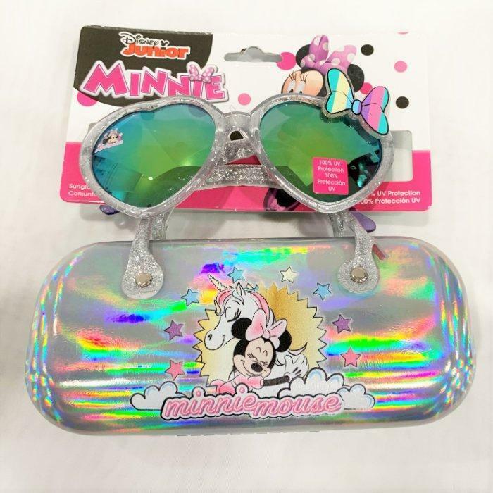 Disney Junior Girls Kids Minnie Mouse Sunglasses & Hard Case Set 100% UV Protect