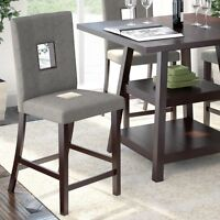 Dining Chairs in Grey Sand Fabric-BLACK FRIDAY WEEK SALE