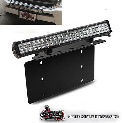 Used, For TOYOTA 4Runner Tacoma 126W LED Light Bar Front License Plate Mount Bracket for sale  USA