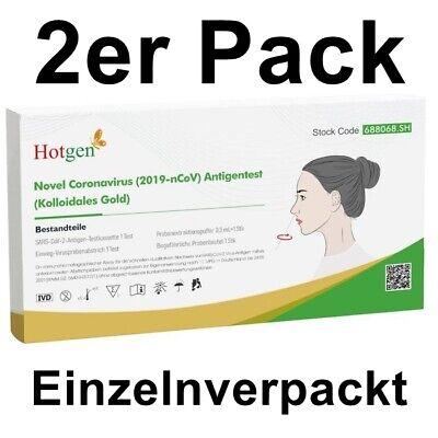 2x Corona Schnelltest Antigen Selbsttest Laientest HOTGEN® Testkit Rapid BfArM