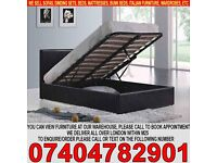 BRAND NEW SINGLE/DOUBLE/KING SIZE OTTOMAN STORAGE BED FRAME WITH MATTRESS OF CHOICE