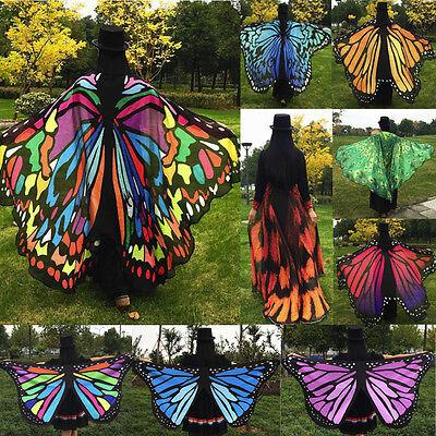 Heiß Neu Schmetterlingsflügel Party Außen Pixie Fee Kostüm Zubehör Fancy Dresse