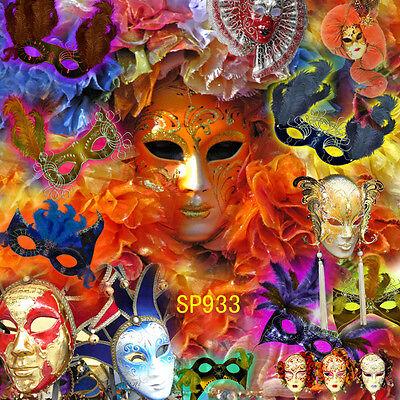 masquerade party  10x10 FT CP  PHOTO SCENIC BACKGROUND BACKDROP Sp933 - Masquerade Backdrop