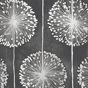 Muriva Dandelion Floral Designer Feature Wallpaper Black