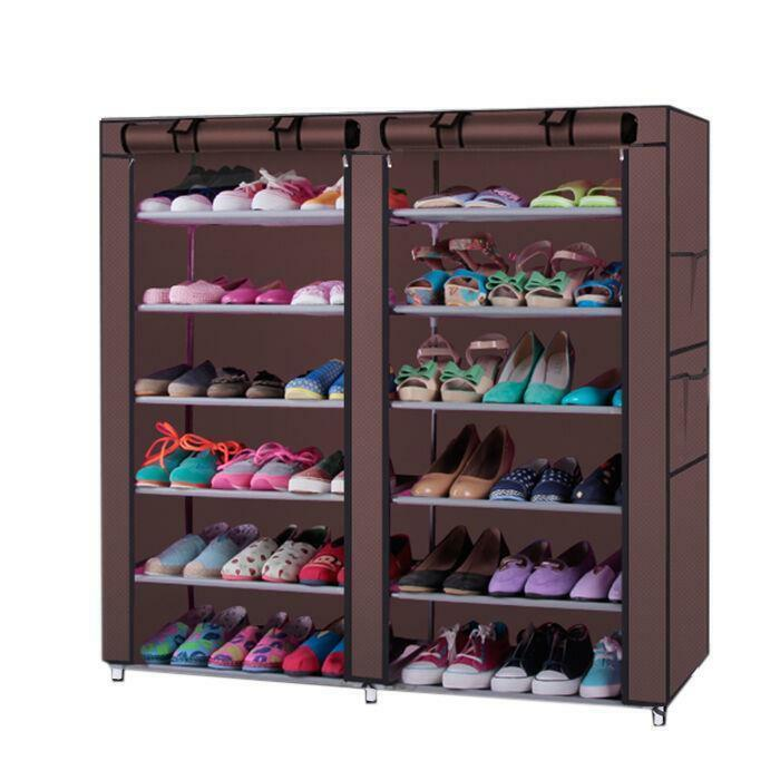 6 Tier Multi Shoe Rack Shoe Shelf Storage Closet Organizer Cabinet w/Cover