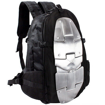 Aluminum Armor Spine Protector Motorcycle Bike Riding Gear Large Bag Backpack