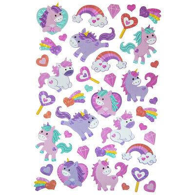 Valentine Day Crafts (Foil Unicorn Rainbows Stickers Planner Party Supply DIY Crafts Valentine's Day)