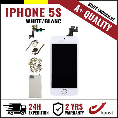 A+ LCD TOUCH SCREEN TACTILE SCHERM ÉCRAN ASSEMBLY WHITE BLANC FOR IPHONE 5S
