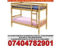 BRAND NEW Amazon Pine Solid Wooden Bunk Bed with Mattress of Choice