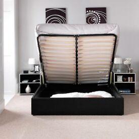 Ottoman Storage Designer Faux Leather Kingsize Bed