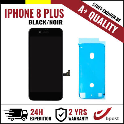 A+ LCD TOUCH SCREEN DISPLAY/SCHERM/ÉCRAN BLACK NOIR FOR IPHONE 8 PLUS+STICKER