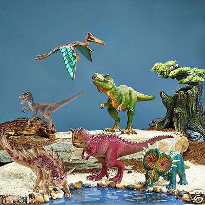 Schleich 6-piece Beautifully Crafted Dinosaur Set - Velociraptor, T-Rex & More!