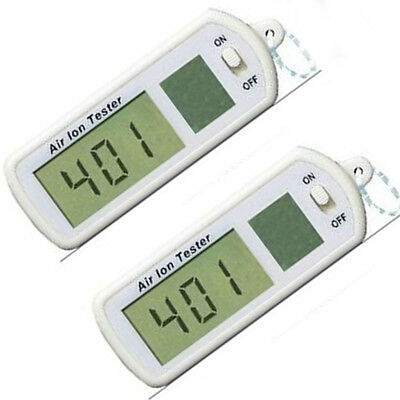 Portable Air Ion Tester Meter Counter -ve Negative Ions With Peak Maximum Hold