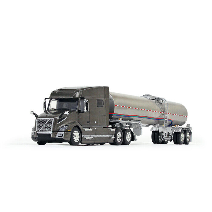 DCP-Volvo VNL Mid Roof sleeper with Brenner Food Grade Tanker Trailer 1/64 scale