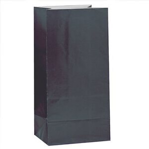 12-x-BLACK-PAPER-PARTY-BAGS-Birthday-Gift-Sweet-Treat-Loot-Favour-Goody-Bag