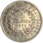 France. IIIe République (1870-1940). 5 Francs 1871-A Hercule