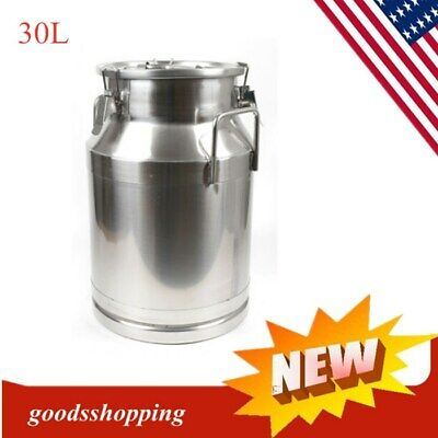 30loil Barrel Stainless Steel Milk Cans Pail Bucket Jug Tea Canister Beer Bucket