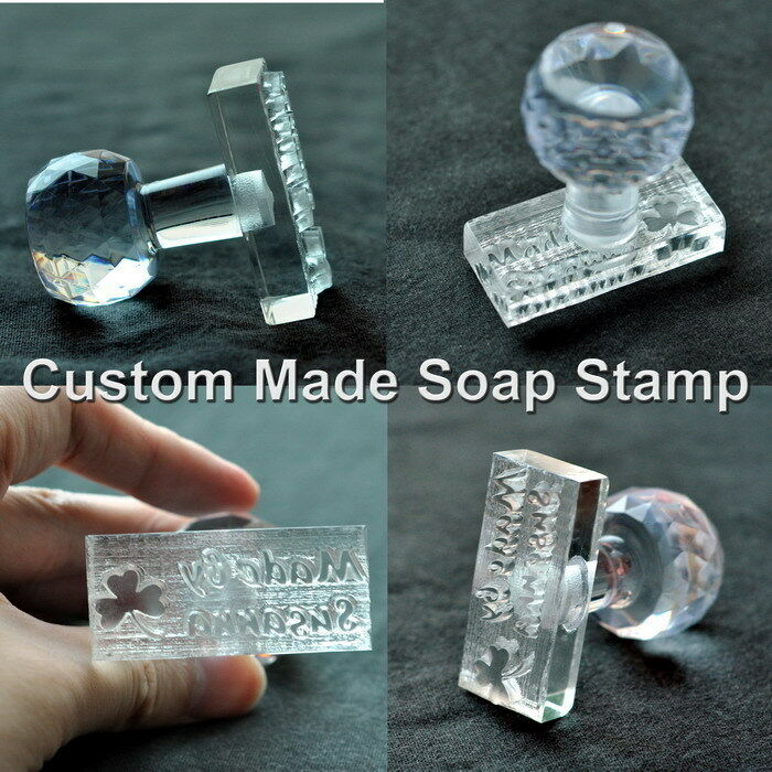 Custom-made customize Handmade Acrylic Glass Soap Stamp Seal Cookie Stamp