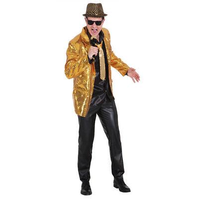 Herren-Kostüm Paillettenjacke, gold Disco Pop Discojacke Goldjacke